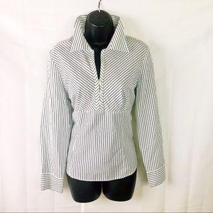 ANN TAYLOR LOFT Perfect Striped Shirt 14p🌹